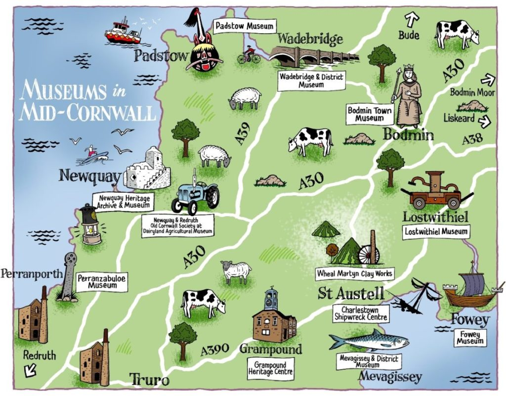 Mid-Cornwall Museum Group Map