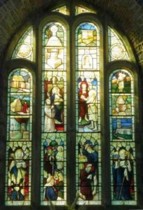 Memorial window in Morwenstow Church to Roberts Stephen Hawker