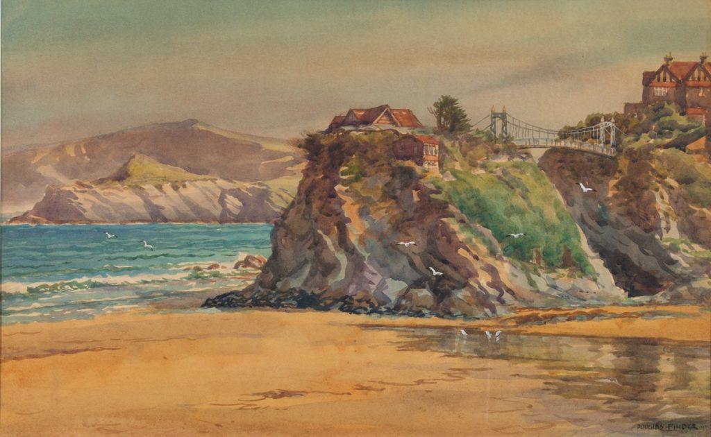 Douglas Pinder (1886-1949) Newquay, watercolour, signed 11 x 18 (2)