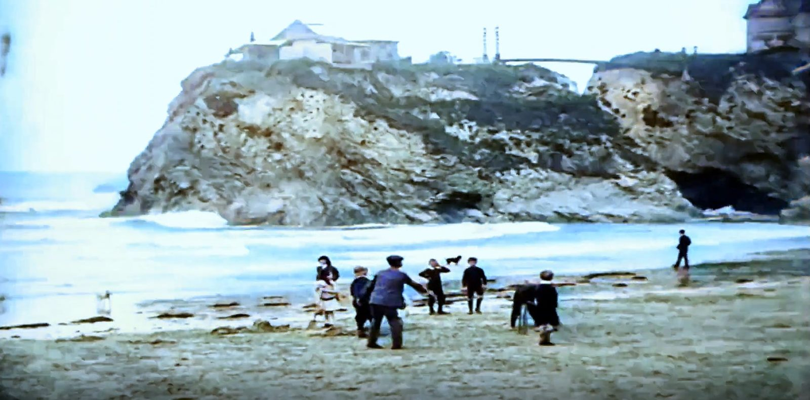 Early Newquay Filmn Colourised