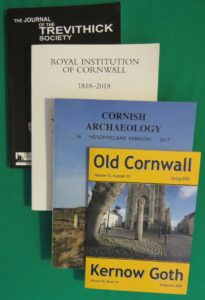 Olds Cornwall, Cornish Archaeology, Royal Institution Cornwall, Trevithick Society