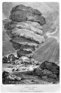 The Cheesewring from an original copper engraving 1804
