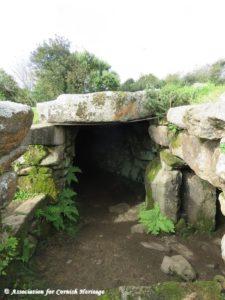 Carn Euny ancient village, the fogou