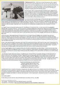 Craig Weatherhill an Obituary by Bert Biscoe