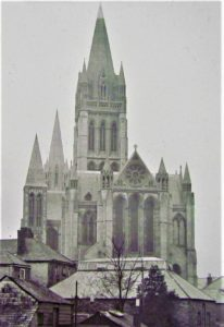Truro Cathedral circa 1905 from a glass slide