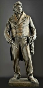 JMW Turner - Statue at Royal Academy by William McMillan RA