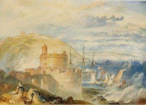 J M W Turner - Falmouth Harbour 1825