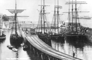 Newquay Harbour Ships c1890 - Newquay Old Cornwall Society