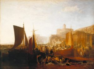 St Mawes at the Pilchard Season exhibited 1812 Joseph Mallord William Turner 1775-1851 Accepted by the nation as part of the Turner Bequest 1856