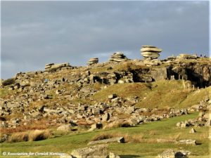 Cheesewring and other rock formations on Stowe Hill