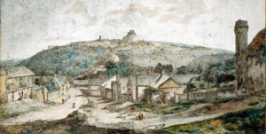 View of Launceston from Newport c.1790. Francis Towne