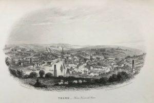 c1860 Truro from Trennick Lane