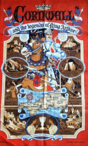 CORNWALL & the LEGENDS of KING ARTHUR' TEA TOWEL