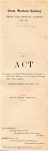 Cornwall Railway Act of Parliament