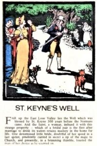 EARLY CORNISH LOOE LEGENDS POSTCARDS - St Keynes Well