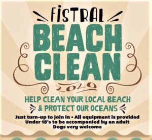 Fistral Beach Clean Notice