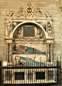 John Roberts monument in Truro Cathedral