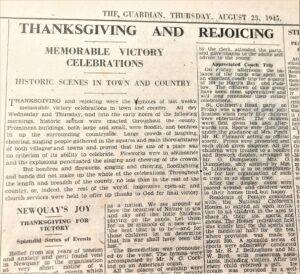 Newquay Express V J Day 23 Aug 1945