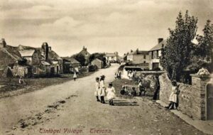 Tintagel - Trevena Village c1900 - Post Office on the left