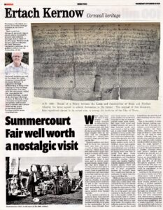 Ertach Kernow - Summercourt Fair well worth a nostalgic visit