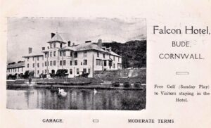 BUDE, FALCON HOTEL, ADVERT CARD