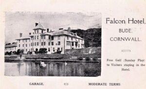 BUDE, FALCON HOTEL, ADVERT CARD