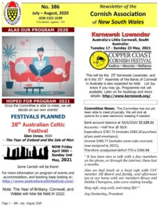 Cornish Society of New South Wales July 2020
