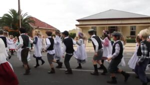 Flora Dance by Children in Moonta, South Australia