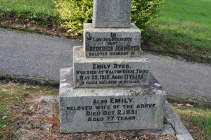 Frederick John Dyer & Emily Hooper Monument