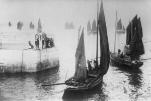 Herring Boats Leaving Newquay Harbour
