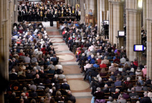 Emma Mansfield conducting the East Cornwall Choir singing Cornish carols from Australia