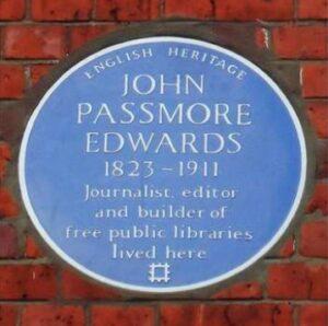 John Passmore Edwards - Blue Plaque on his London House