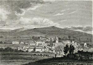 1824 Antique engraving of Bodmin