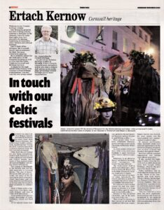 Ertach Kernow - In touch with our Celtic Festivals