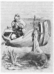 Arthur Obtains the Sword Excalibur - Daniel Maclise 1857