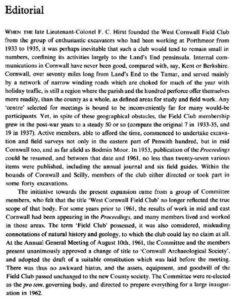 CAS Editorial 1962