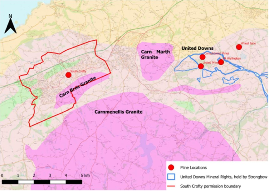 Cornish Metals United Downs Project Map