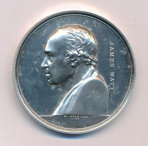 Lt Col F C Hirst Silver Medal 1st Class Obverse
