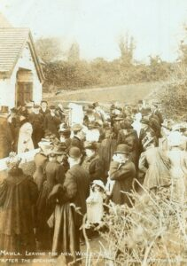 1908: Leaving the chapel after the opening (Photo: courtesy Clive Benney)