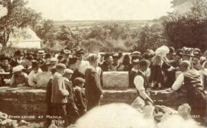 1908: Laying the foundation stone (Photo: courtesy Clive Benney)