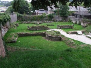 The visible partial remains of Launceston Priory by John Ellacott