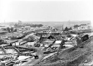 Tolvaddon Mine, Illogan, Cornwall. Around 1900