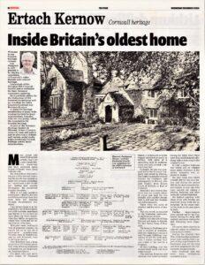 Ertach Kernow - Penfound Manor -  Inside Britain's Oldest Home