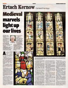 Ertach Kernow- Medieval marvels light up our lives