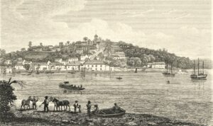 Saltash Engraving - From Drawing by Stockdale 1824