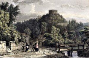 Trematon Castle c1823 Engraving - Thomas Allom