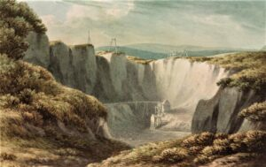 A view of the tin mine at Carclaise by John Warwick Smith, c.1800] courtesy Science Museum Group Collection