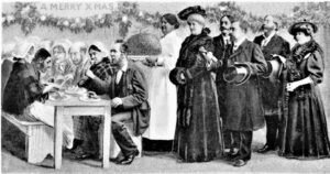 Christmas Day in the Workhouse - Donors come to watch