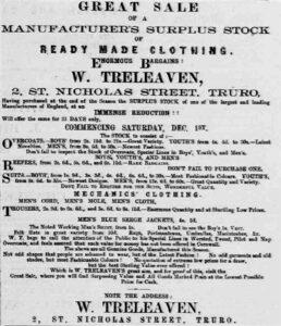 Great Sale - W Treleaven, Truro