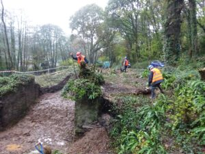 Volunteers clearing lock No' 21 - Liskeard Looe Canal for part of a new heritage trail